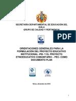 Orientaciones Para La Formulación Del PEI OCTUBRE 2016