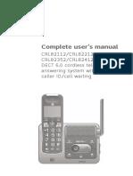 Manual Telefono AT&T CRL82212