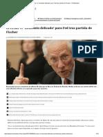 El-Erian Ve 'Momento Delicado' Para Fed Tras Partida de Fischer - El Mostrador