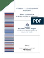 PIAF - 3. Cardápio I - Ações Formativas Autônomas