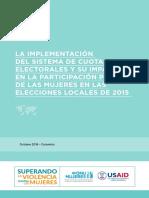 Cuotas y Participacion Politica Elecciones Locales 2015