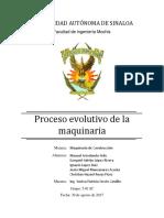 Proceso Evolutivo de La Maquinaria