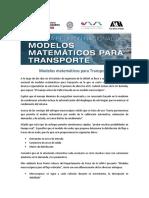 Modelos Matematicos Para Transporte