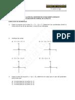 Ec. de La Recta - Sist. de Ecuaciones - Ec. Vectorial de La Recta