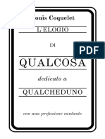 L'ELOGIO DI QUALCOSA - Louis Coquelet
