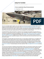 F-35 May Never Be Ready for Combat