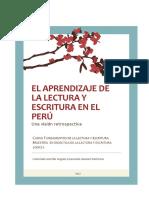 Solorzano y Angulo - El Aprendizaje De la Lectura y Escritura en El Perú