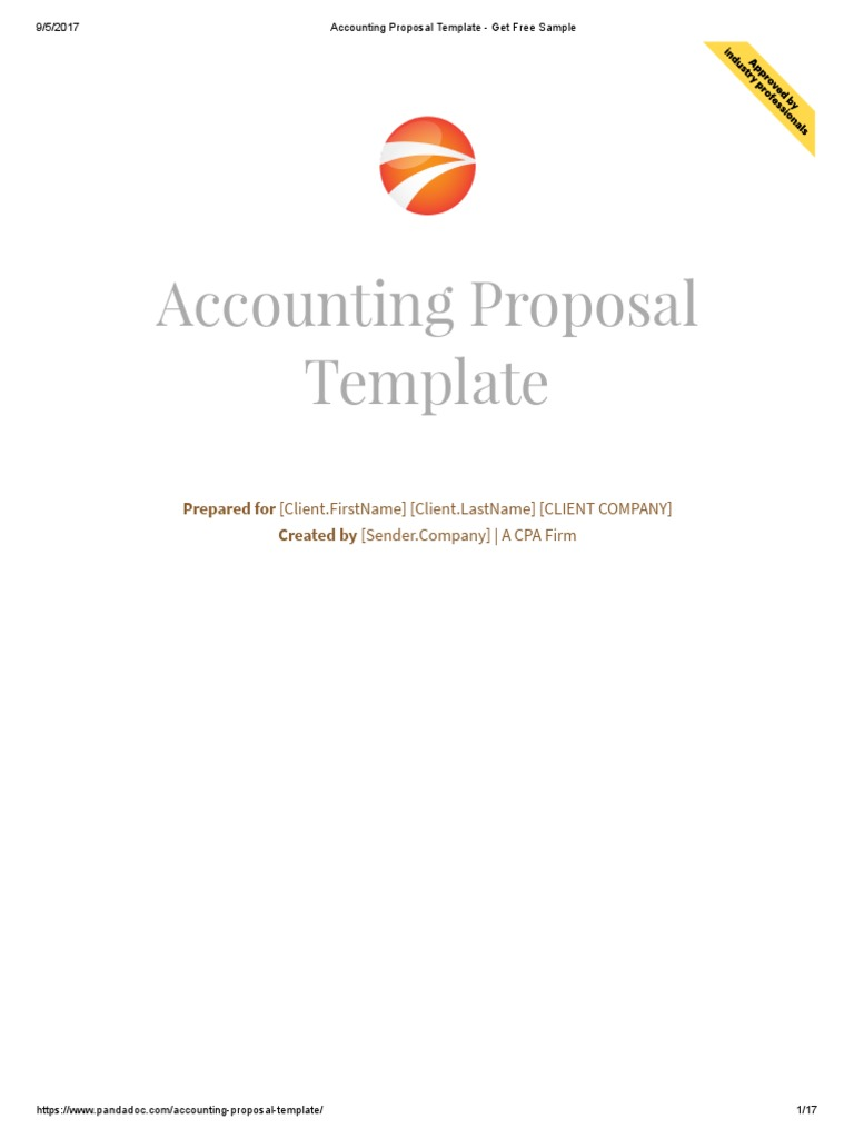 Accounting Proposal Template Sample Bookkeeping Invoice