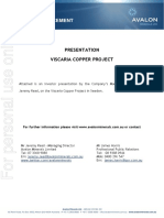 Presentation Viscaria Copper Project Avalon Australia Sweden