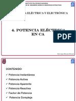 4. Potencia Eléctrica en CA