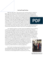 learning from teaching writing project one draft