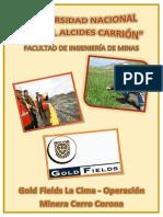 Gold Fields La Cima Operacion Minera Cerro Corona