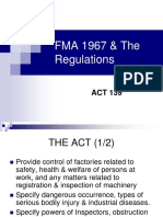 Factories and Machinery Act 1967 (Amendment 2006)