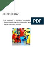 El Error Humano