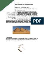 Inventos de La Geometria Griega y Egipcia