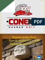 Coneic Huaraz 7 de Agosto Del 17 GENARO DELGADO INAGURACIÓN