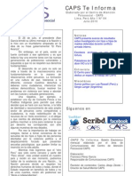 Caps Te Informa Boletín Mensual Julio 2010