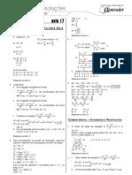 Matemática - Caderno de Resoluções - Apostila Volume 4 - Pré-Universitário - mat1 aula17