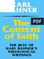 Karl Rahner the Content of Faith