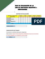 7 Criterios de Evaluación de La Presentación de Proyectos Creativos o Innovadores