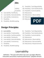HCI Design Principles