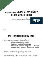 Clase 1 Sistemas de Información I 02-2017
