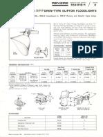 Revere 514 & 515 GPF Open-Type Eliptor Floodlights Bulletin 1966