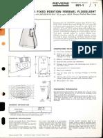 Revere 651 Series Fresnel Flood & 6808 Surface Flood Bulletin 1966