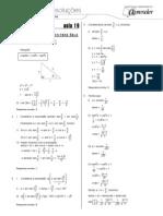 Matemática - Caderno de Resoluções - Apostila Volume 4 - Pré-Universitário - mat5 aula19