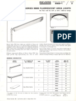 Revere 9900 Fluorescent Area Lights Bulletin 1966