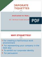 Corporate Etiquettes
