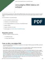 Tutorial_ Crear Una Página Web Básica en Visual Web Developer