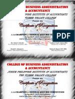 Quiz Bee Certificate