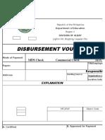 DISBURSEMENT Voucher Sample
