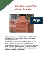 Jual Bata Merah di Surabaya, 0813 – 5870 – 6022 (TLP / WA)