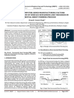 A Review on Computer Aided Manufacturing Factors Affecting Reduction of Surface Roughness and Thickness in Incremental Sheet Forming Process