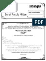 Contoh Undangan Sunat Rasul atau Undangan Khitanan Dengan Microsoft Word-G-Tekno.doc
