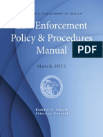 Doj Law Enforce Policy Procedures Manual