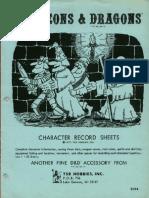 D&D Character Record Sheets