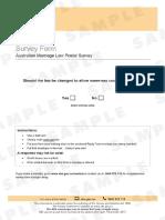 Australia - Marriage Law Sample Survey