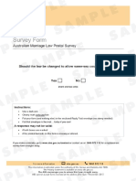 Australia - Marriage Law Sample Survey