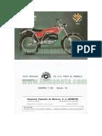 Bultaco Sherpa 350 Cc Manual de Instrucciones 5879