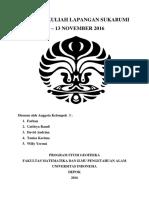 Laporan Kelompok 3 Kuliah Lapangan Sukabumi