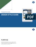 Design Style Guide - London Transport