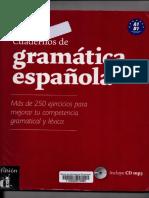 Cuaderno de La Gramatica Espanola  niveles A1-B1
