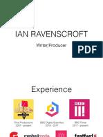 Ian Ravenscroft - CV 2017