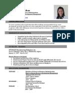 Katlyn Panganiban Resume