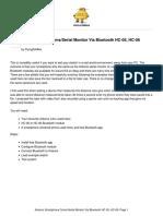 Arduino Smartphone ComsSerial Monitor via Bluetoot