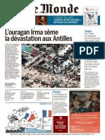 Le Monde Du Vendredi 8 Septembre 2017