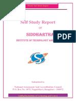 NAAC_SSR- Siddartha Inst Bangalore
